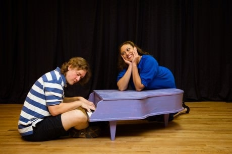Schroeder (Eric Hughes) and Lucy (Alana Sharp). Photo by Traci J. Brooks Studios.
