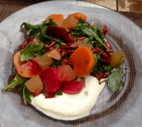Beet salad from Chef Brian McPherson.
