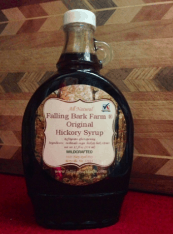 Falling Bark Farm Wildcrafted Hickory Syrup.