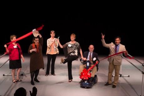 (L to R) - Linda Sullivan (President/CEO Arts Council of Fairfax), Caroline Frankil Warren (BalletNova Executive Director), Nancie Woods (BalletNova Artistic Director), Kathy Fredgren, Ken Fredgren, and Joe Montayo (Senator Tim Kaine's office).