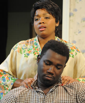 Krenee Tolson (Ruth) and Kahlil Daniel (Walter). Photo by Stan Barouh.
