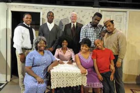 The cast of 'A Raisin in the Sun.' Photo courtesy of Compass Rose Theater.