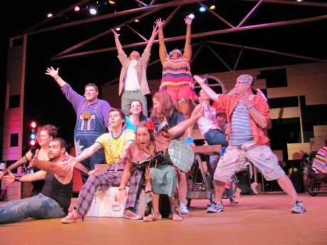 A scene from Godspell