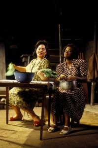 """Michele Shay and Viola Davis in the Goodman Theatre's production of August Wilson's """"Seven Guitars,"""" directed by Walter Dallas. Photo by Eric Y. Exit/Courtesy The Goodman Theatre)"""