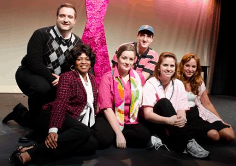 Left to right (top row) Matt Dewberry, Chris Rudy (bottom row) Ayanna Hardy, Megan Westman, Jennie Lutz, and Gracie Jones. Photo by Betty Adler.
