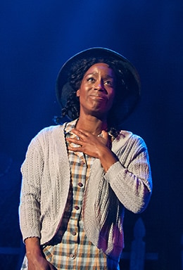 Felicia Curry as Celie at Virginia Rep. Photo by Aaron Sutten.