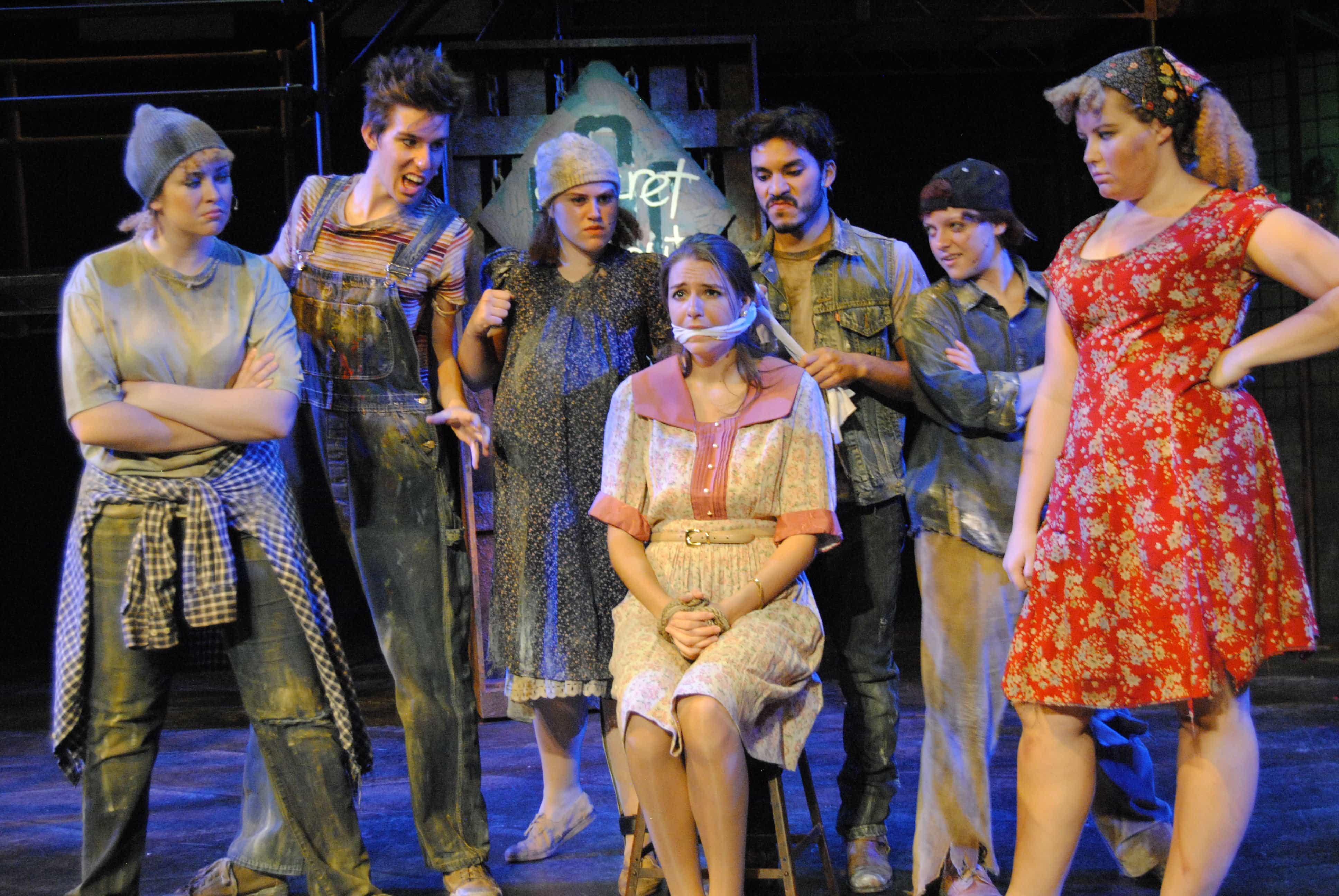 The cast of 'Urinetown the Musical.' Photo credit: William Atkins, Senior University Photographer.