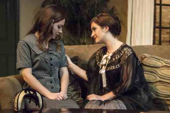 Sarah Ferris (Thea) and Katie Culligan (Hedda). Photo by St. Johnn Blondell.