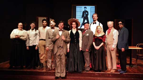 The cast of The Salem Players' 'Picasso at the Lapin Agile.' Photo by  Shealyn Jae.
