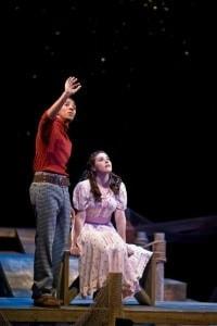 Hasani Allen (Billy Bigelow) and Allison Verhoffstadt (Julie Jordan). Photo by Brian S. Allard.
