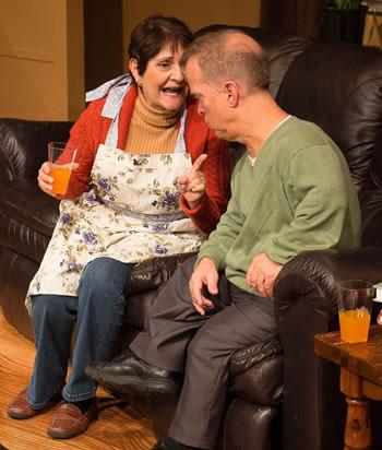 Lois Sanders-DeVincent (Sheila) and Scott Strasbaugh (Danny). Photo by Lewis Lorton.