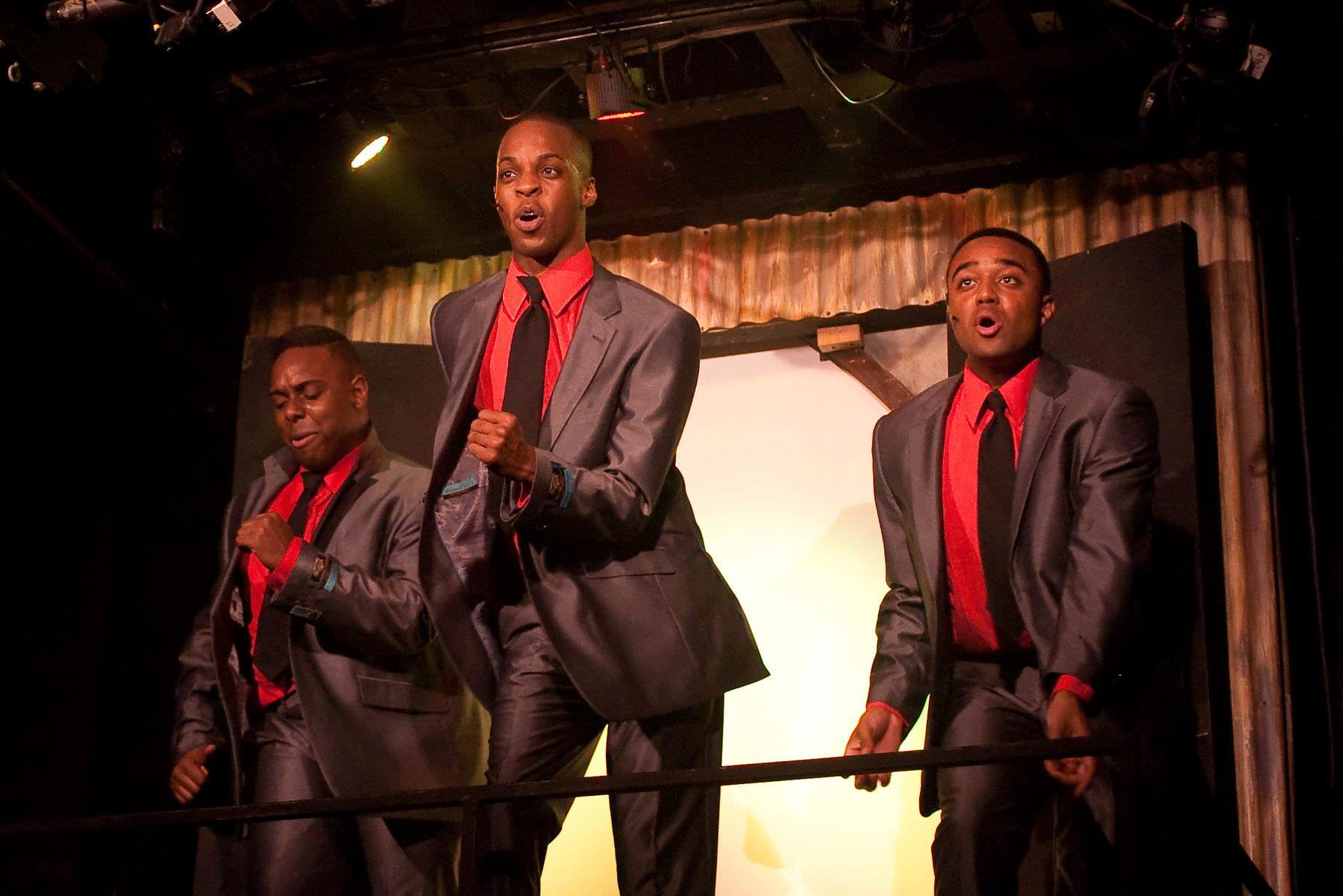 Andre Hinds (Center) in 'Memphis.' Photo by Kirstine Christiansen.
