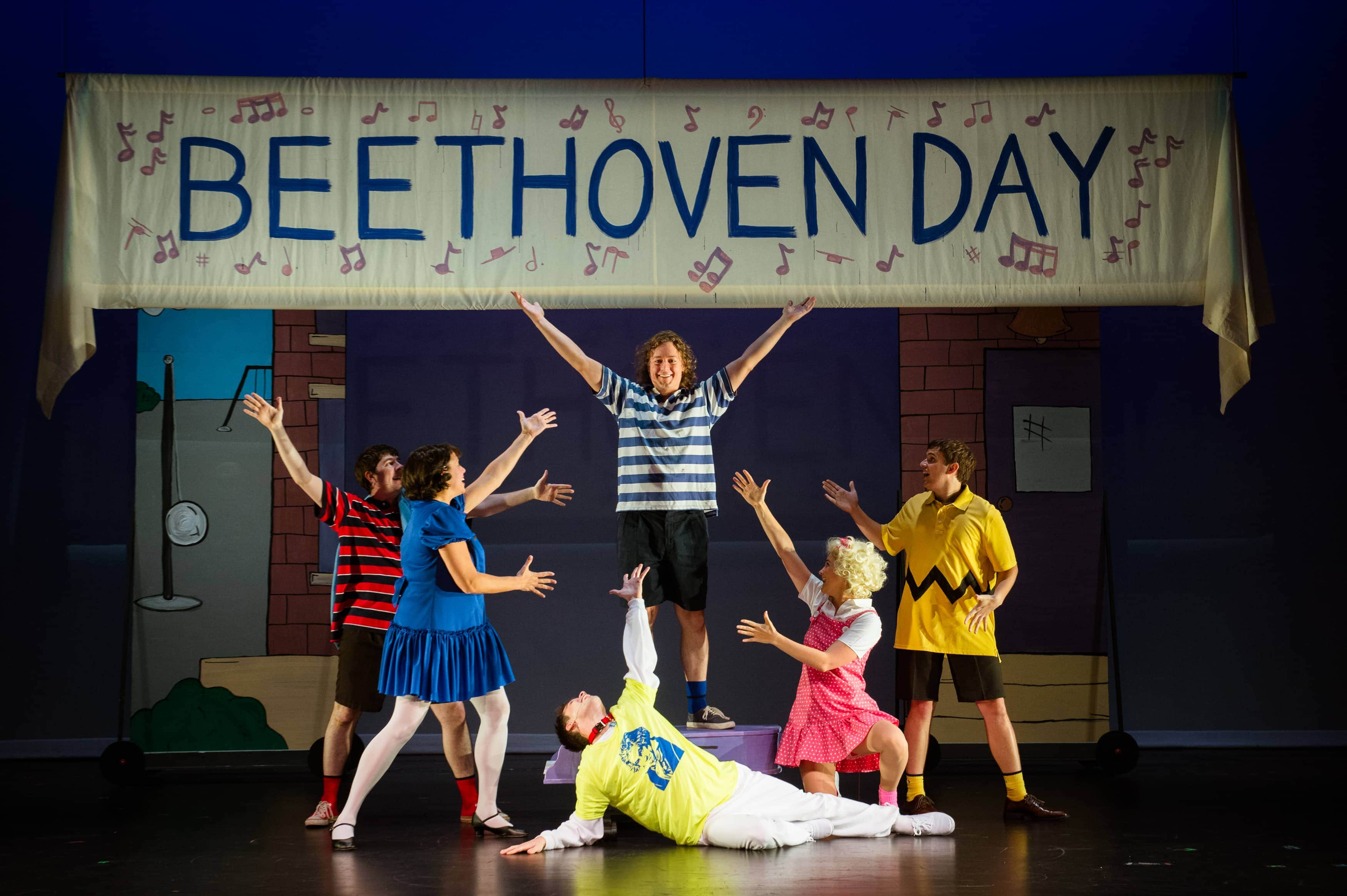 "Eric Hughes (Schroeder) leads the cast for ""Beethovin Day."" Photo by Traci J. Brooks Studios."