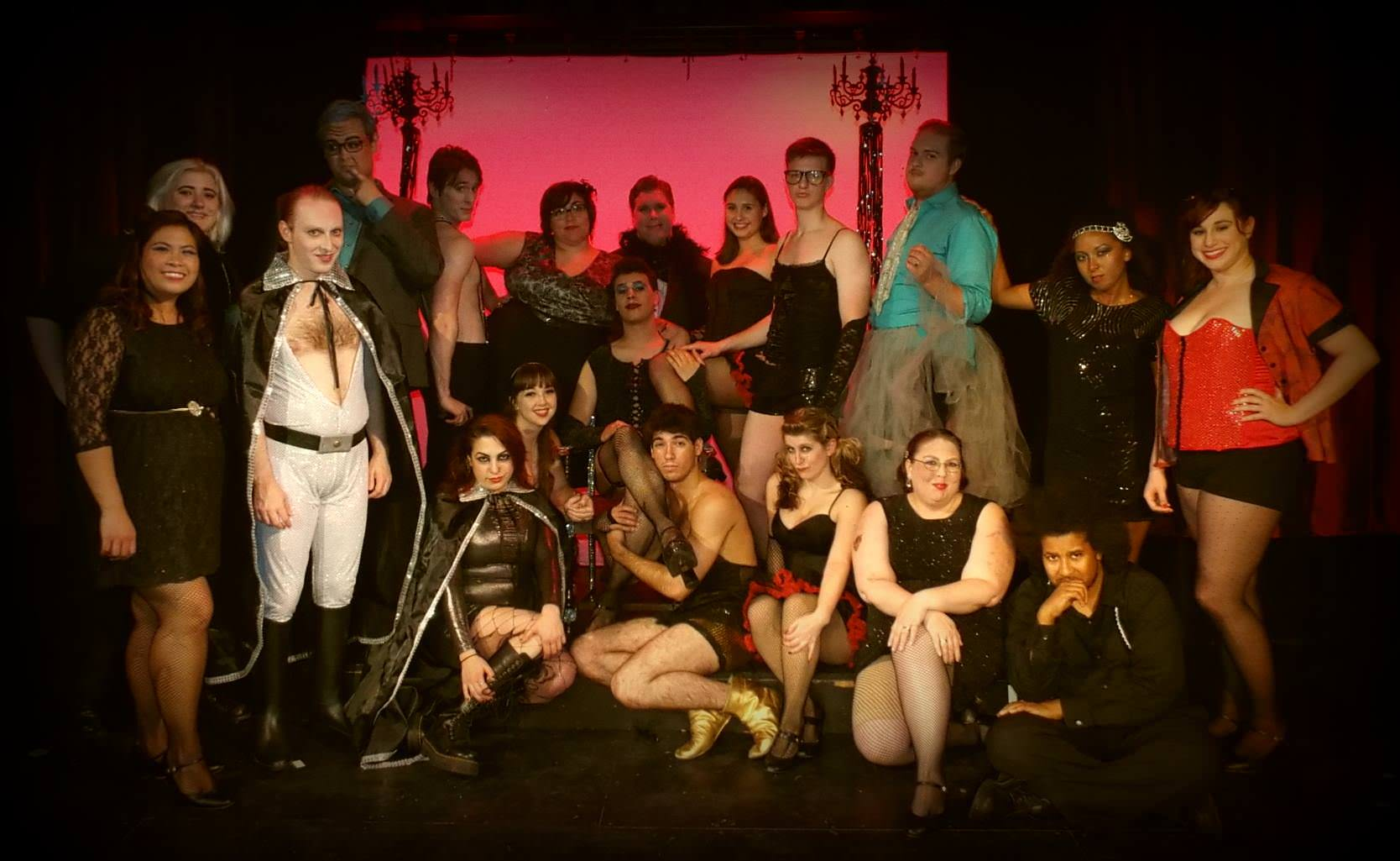 The cast of  The Ricky Horror SJow at Unquiet Theatre.