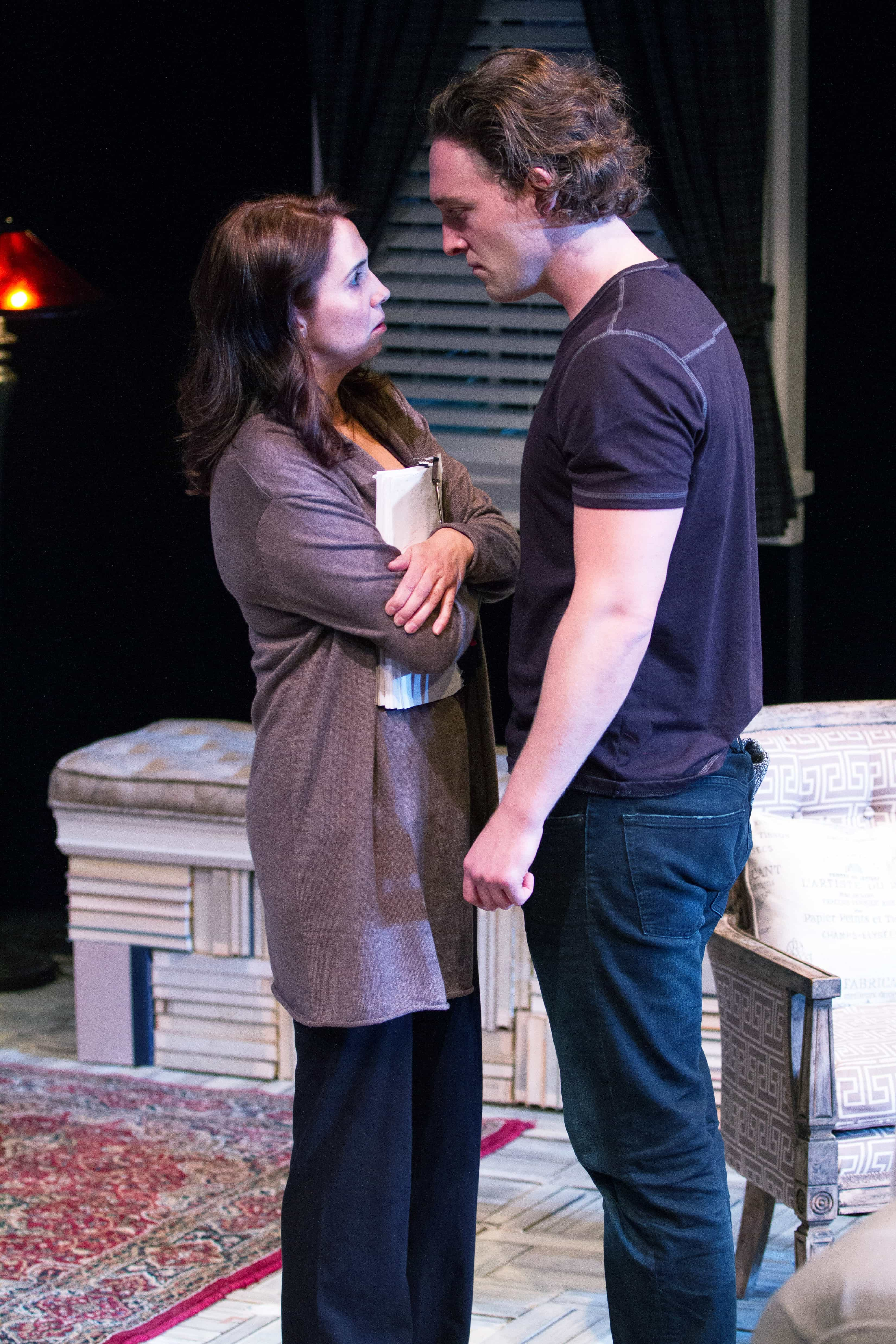 Holly Twyford (Olivia) and Luigi Sottile (Ethan). Photo by Theresa Wood.
