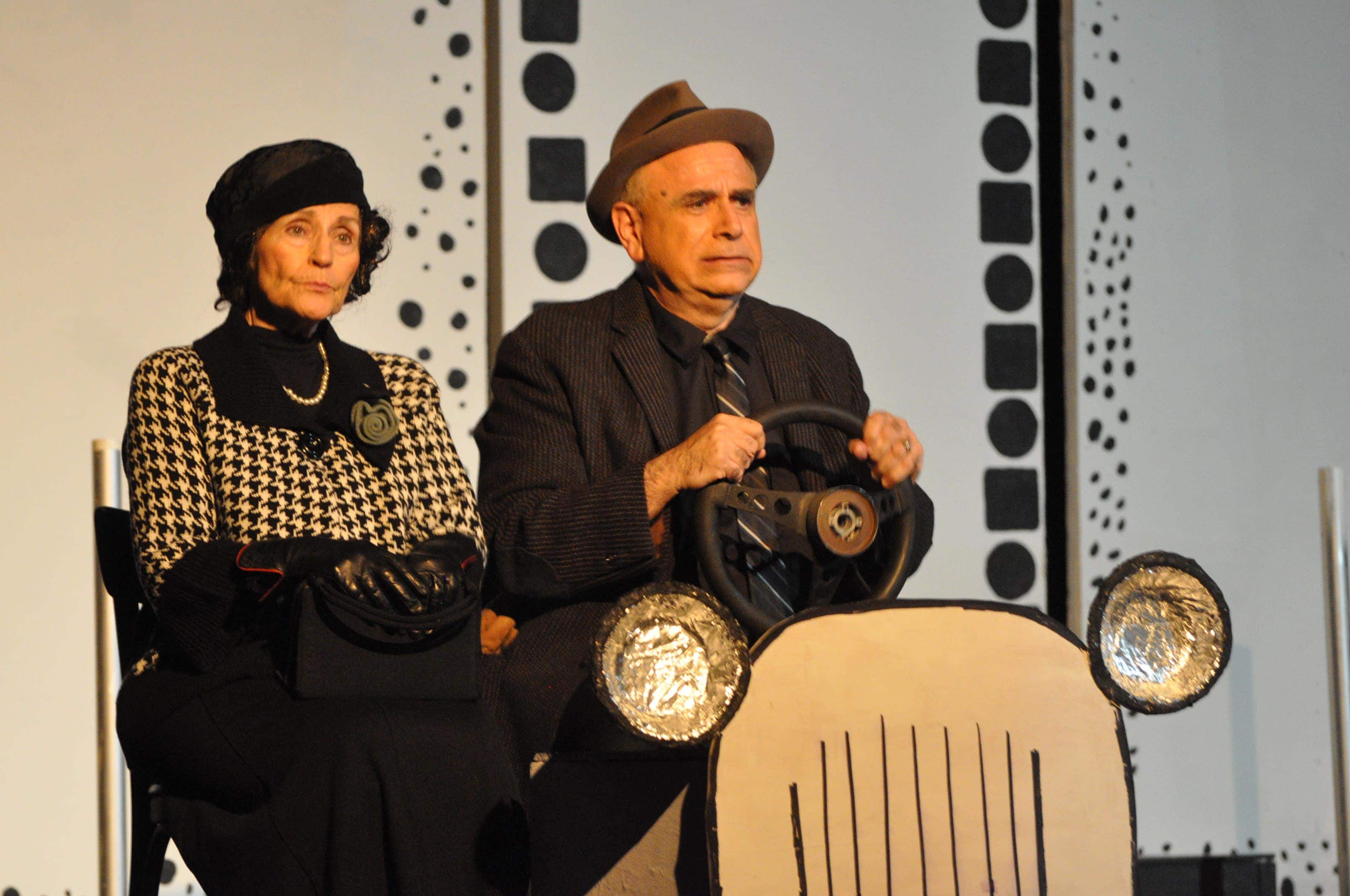 Left to Right: Adriana Hardy and Steven Rosenthal portray Mr. and Mrs. Walter Mitty in 'The Secret Life of Walter Mitty.'