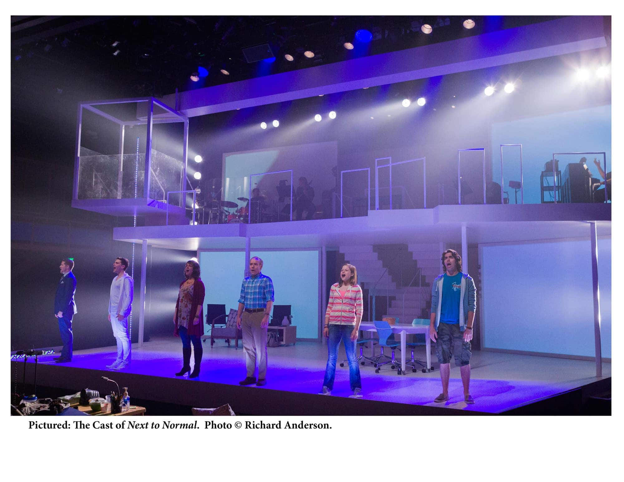 The cast of 'Next to Normal' at CENTERSTAGE. Photo by Richard Anderson.