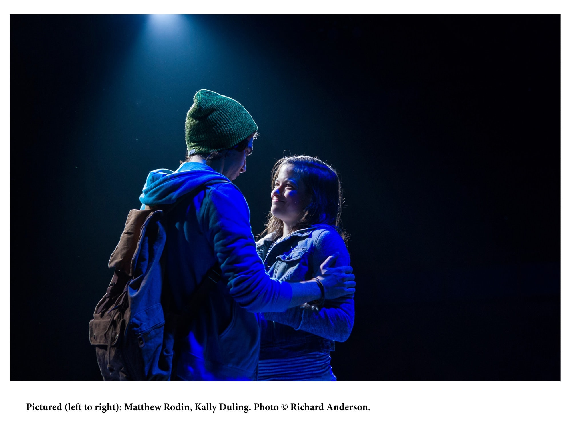 Justin Scott Brown  (Henry) and   (Natalie). Photo by Richard Anderson.