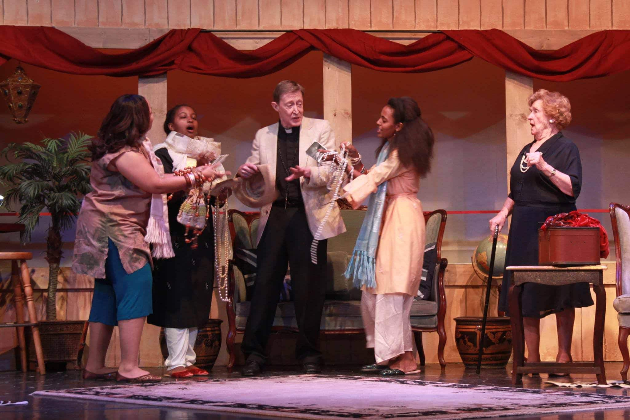 Scene from Murder on the Nile. Courtesy Aldersgate Church Community Theater.