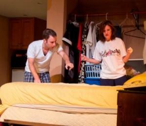 Mike Rudden and Jo Sullivan in 'Bug'. Photo by Matt Liptak).