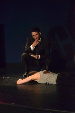 Russel Silber (Det. Mac Beth), Devin Gaither.  Photo by Shelley Shearer.
