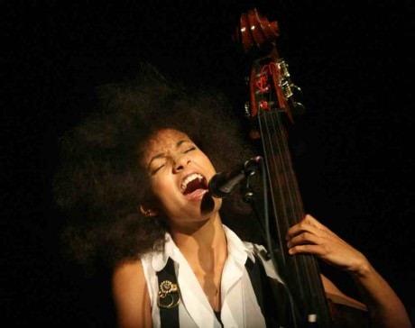 Esperanza Spalding . Photo courtesy of  Aceshowbiz.com.