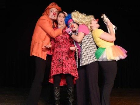 The cast of  'Not a Monkey': Jack Novak, Anna Jackson, Alani Kravitz and Sarah King. Photo courtesy of InterAct Story Theatre.