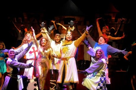 The cast of 'Spamalot.' Photo courtesy of Riverside Center Dinner Theatre