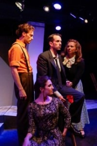 Clockwise from bottom  Shaina Kuhn, Alan Naylor, John Loughney, and Katie McManus. Photo by Gary Mester.