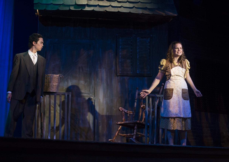 Joseph Chee (Olin Blitch) and Emily Risley ( Susannah). Photo by  Edmund Pfueller.
