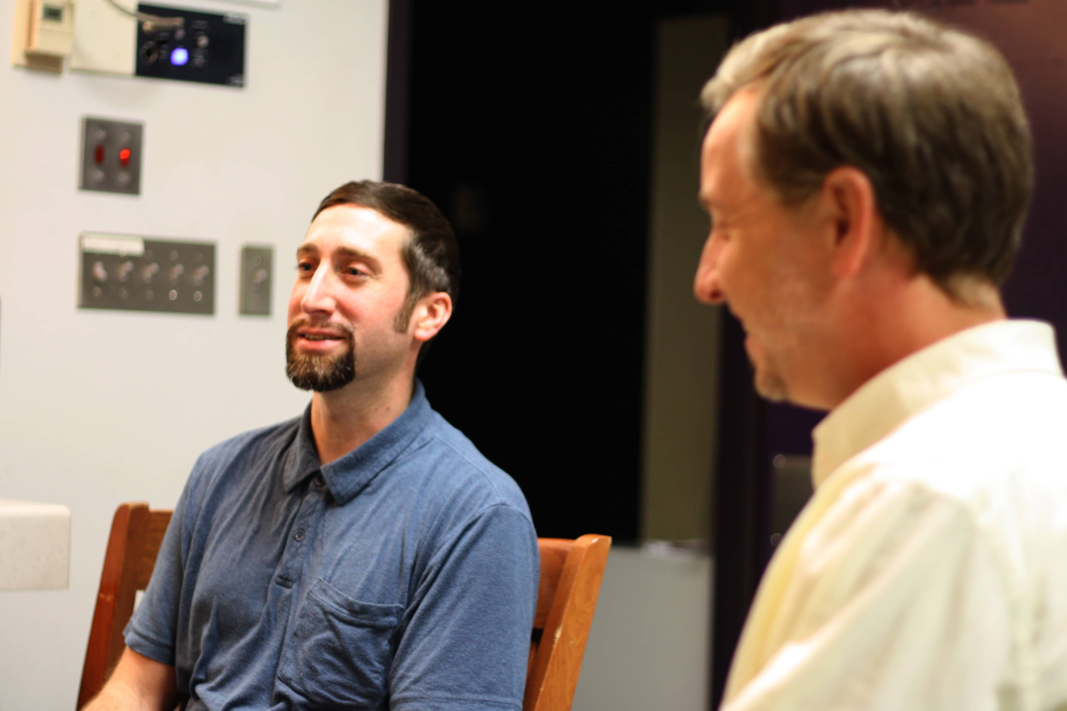 L to R: Co-Directors: Anthony Scimonelli and Gareth Kelly. Photo by Emma K. McDonnell.