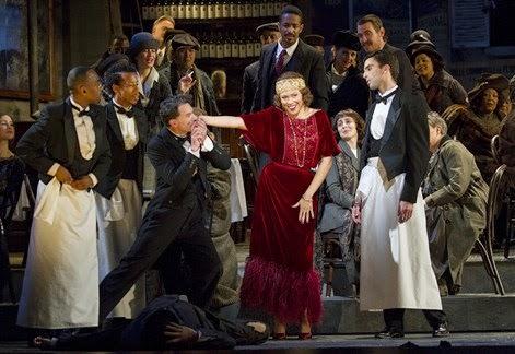 Quando m'en vo': Alyson Cambridge (center) as Musetta. Photo by Scott Suchman,
