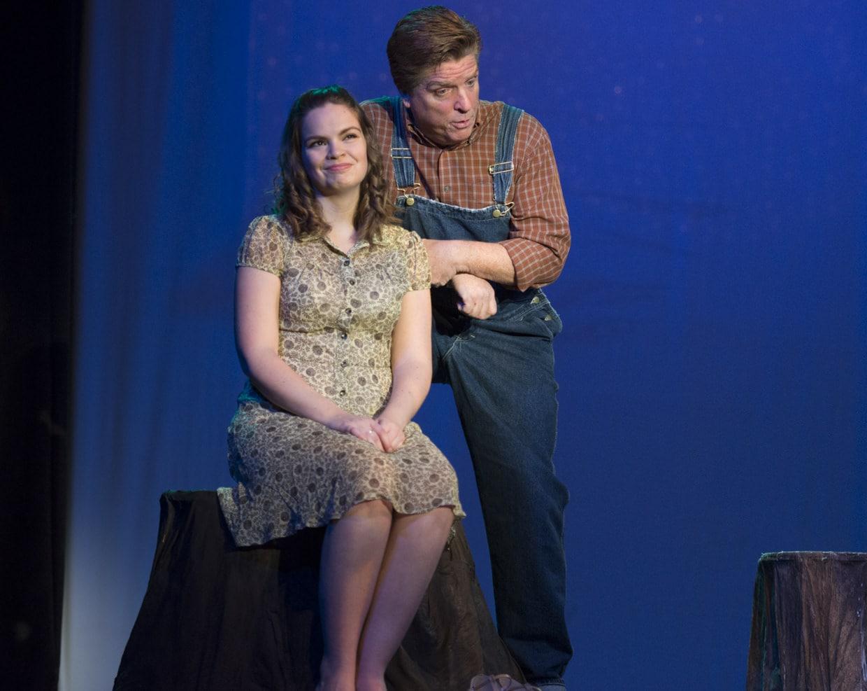 Emily Risley (Susannah) and Jeffrey Springer (Sam Post). Photo by Edmund Pfueller