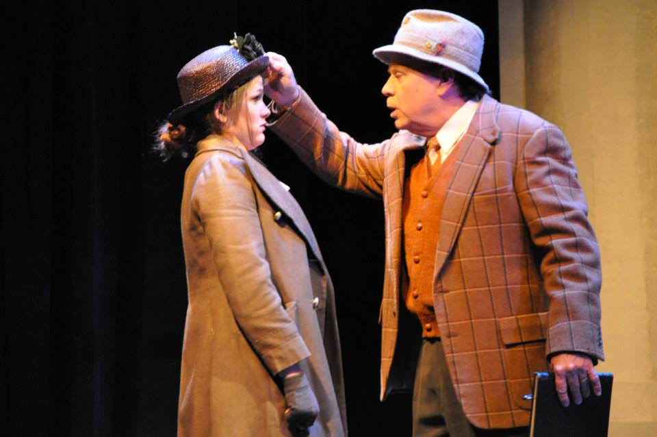 Cara Bachman (Eliza Doolittle) and Brian Lyons-Burke. (Henry Higgins). Photo by Elli Swink.