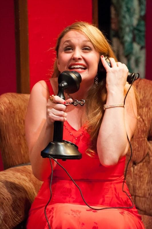 Caroline Kiebach as Lorraine Sheldon. Photo by Chris Aldridge, CMAldridgePhotography .