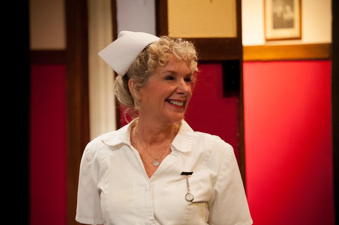 Penny Nichols as Nurse Preen. Photo by Chris Aldridge, CMAldridgePhotography .