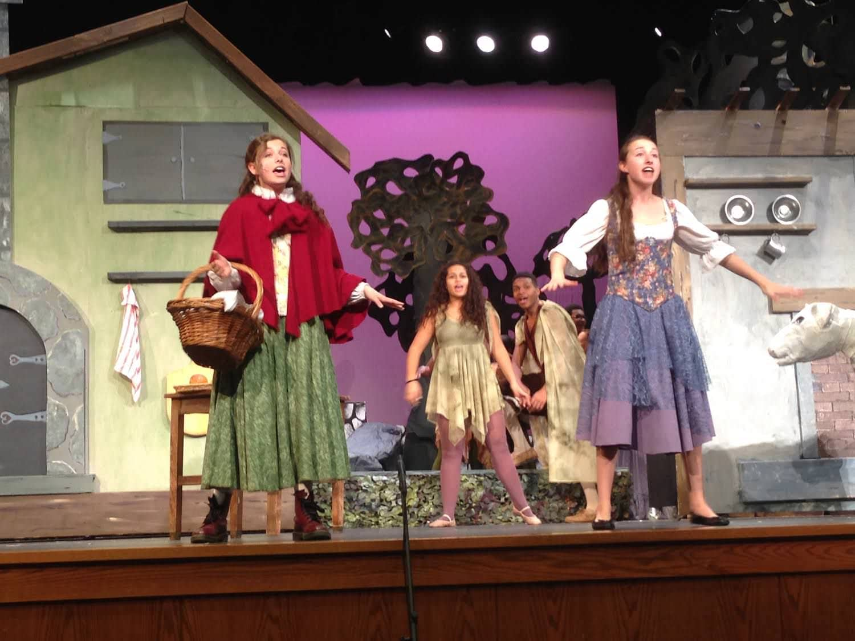 Little Red Riding Hood (Joey Schulman) and Cinderella (Eva Schulman). Photo courtesy of Woodrow Wilson High School.