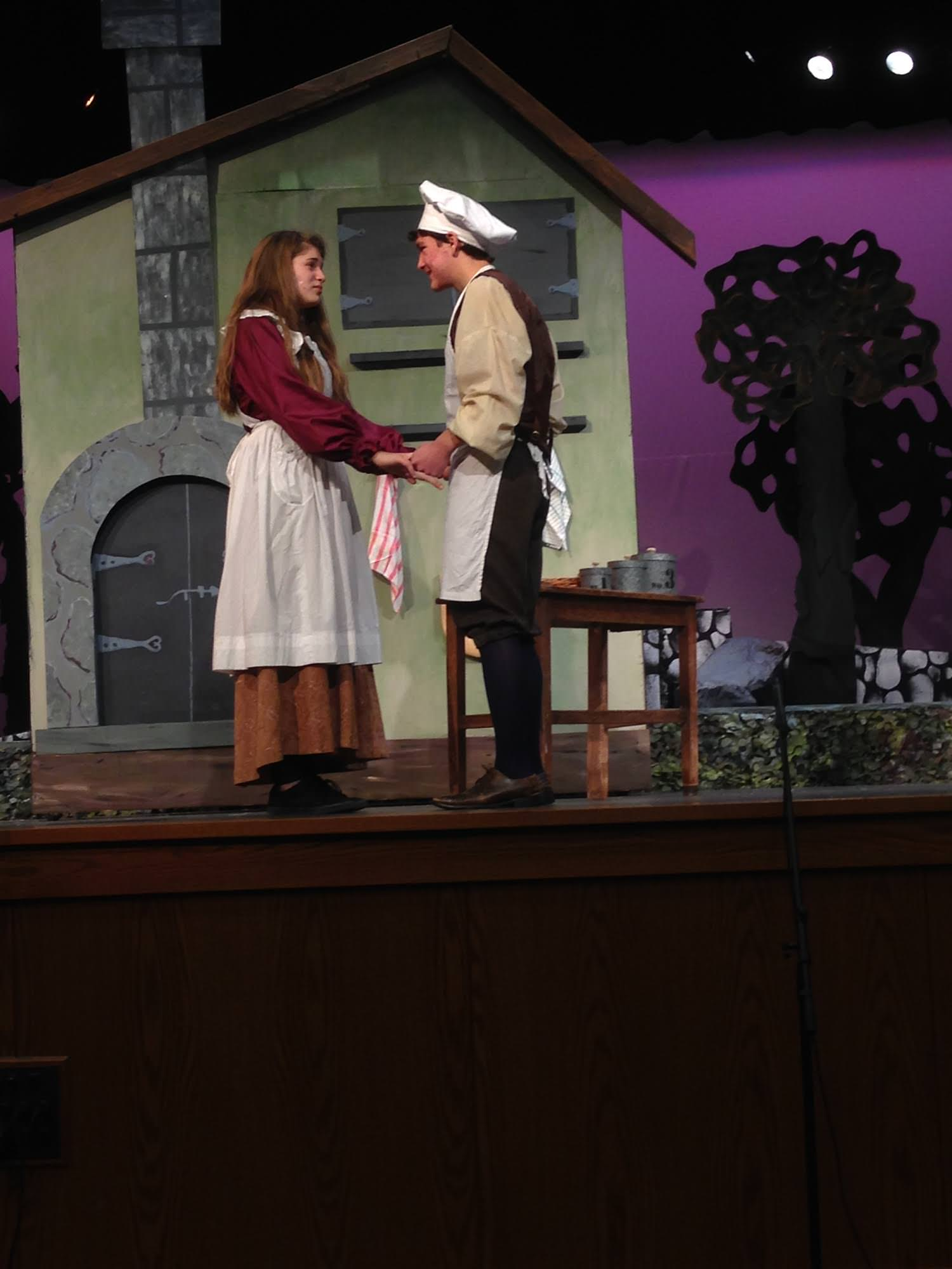 The Baker and his wife (Ben Topa and Sophie Thurschwell). Photo courtesy of Woodrow Wilson Hight School.