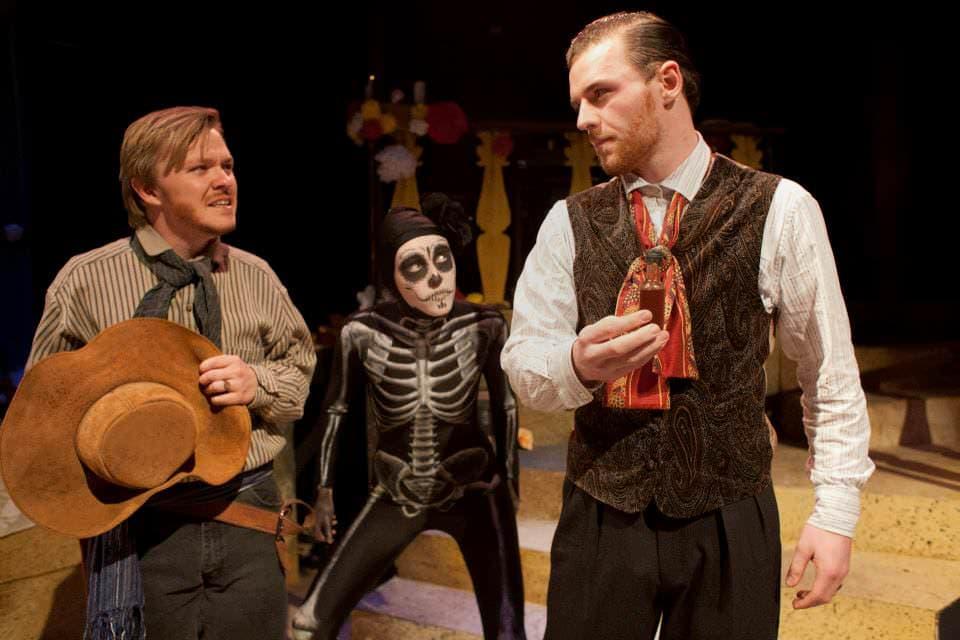 Seth Rosenke, Kira Burri and Bobby Gallagher. Photo courtesy of The Catholic University.