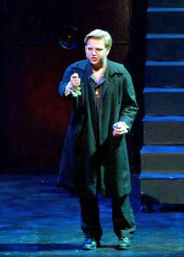 Alex Stone (Sweeney Todd) singing 'Epiphany.' Photo by CYM Media & Entertainment.