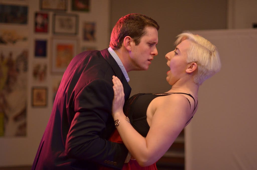 Eric Park (Mr. Paine) and Jessica Ruth Baker (Ms. White). Photo by   Britt Olsen-Ecker Photography.