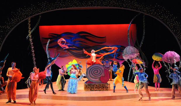 Cast of Disney's 'The Little Mermaid'. Photo by Stan Barouh.