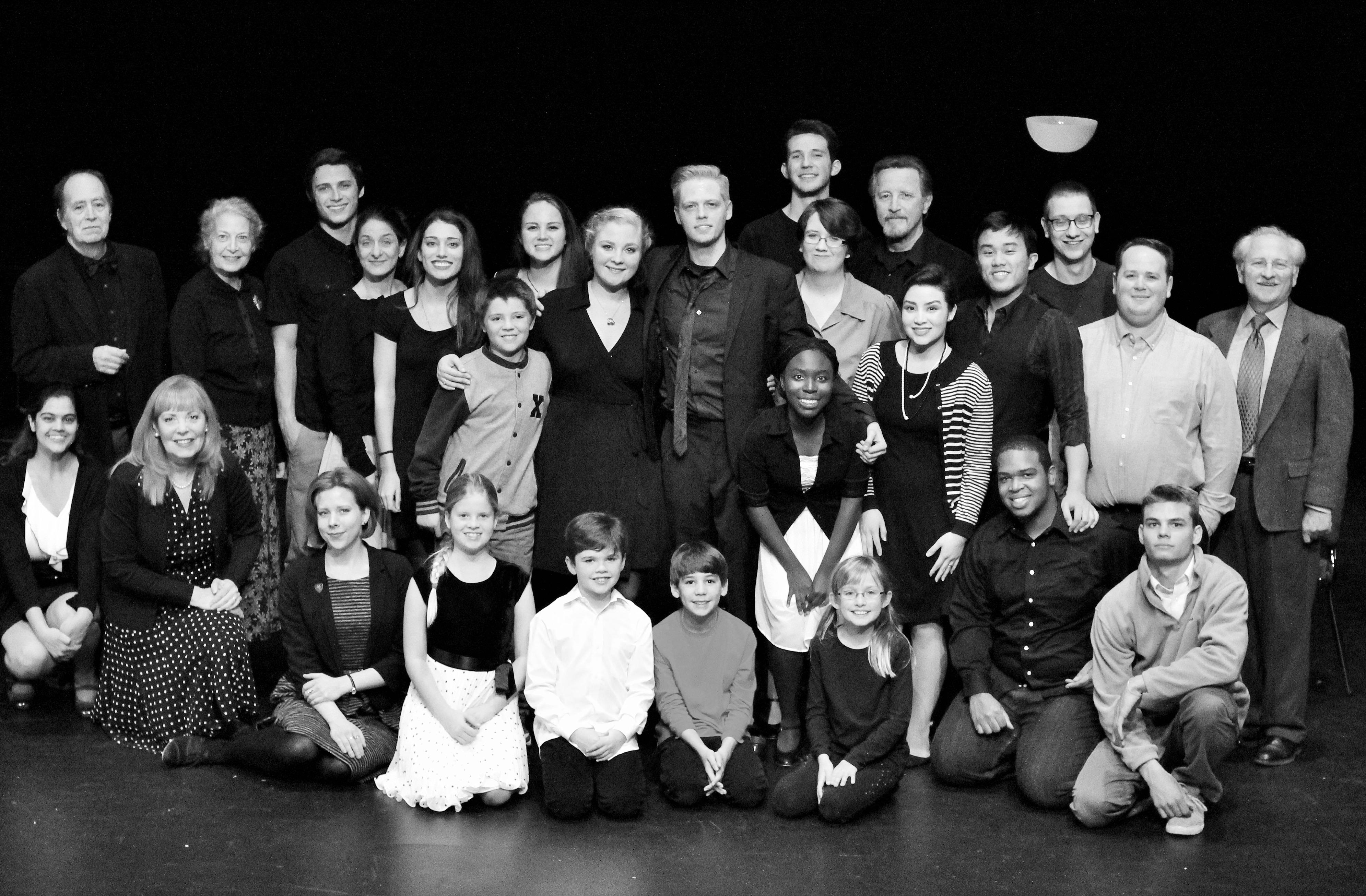 Cast of 'It's a Wonderful Life'.