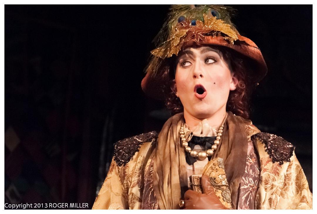 Jett Watson (Lady Bracknell). Photo by Roger Miller.