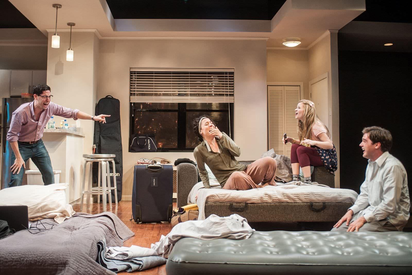 lex Mandell (Liam), Irene Sofia Lucio (Daphna), Maggie Erwin (Melody), and Joe Paulik (Jonah). Photo by Teddy Wolff.