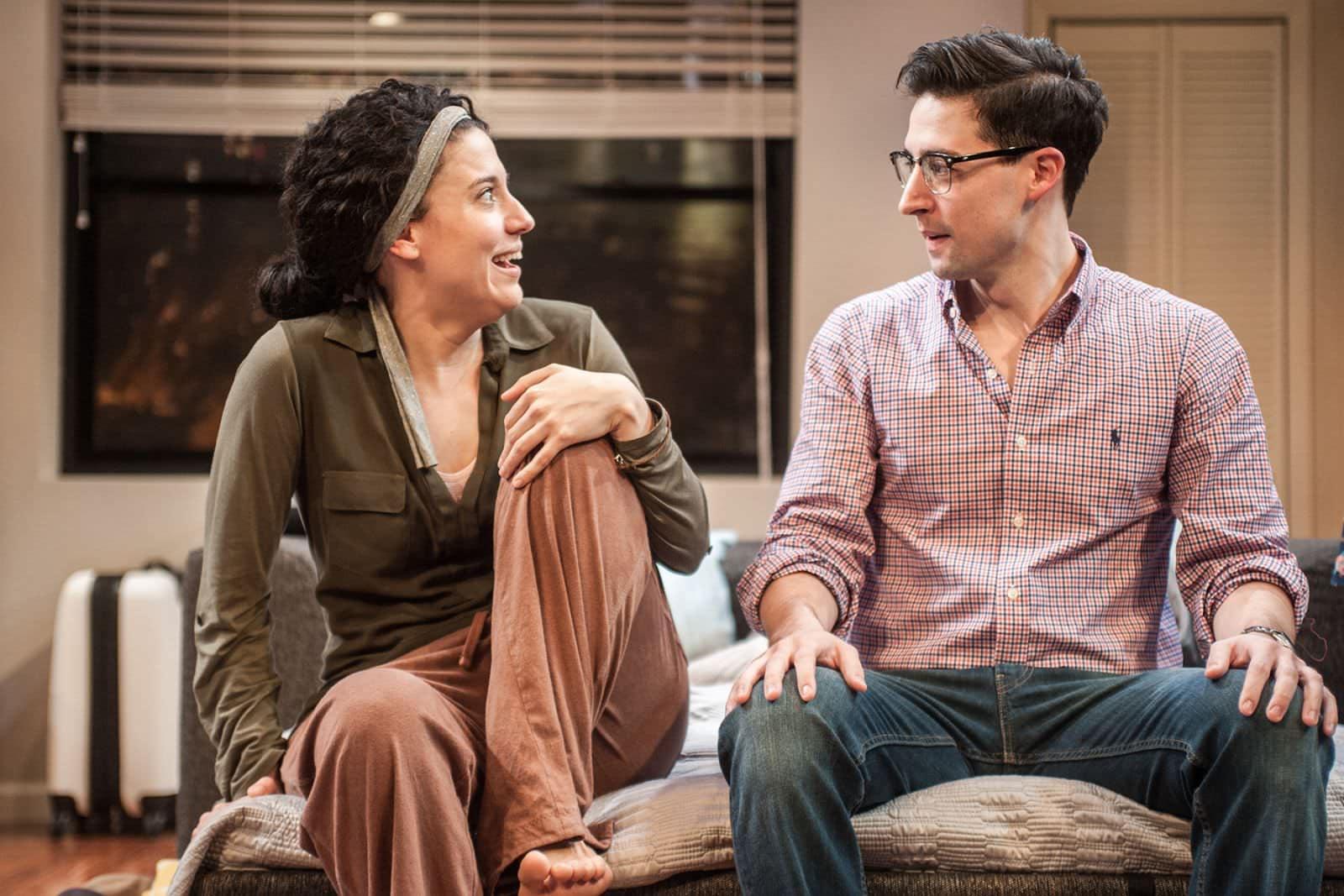 Irene Sofia Lucio (Daphna), and Alex Mandell (Liam). Photo by Teddy Wolff.