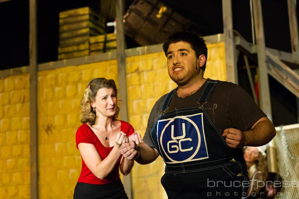 Hope Cladwell (Aimee Lambing)  and Bobby Strong (Tommy Malek), Photo by Bruce F. Press Photography.
