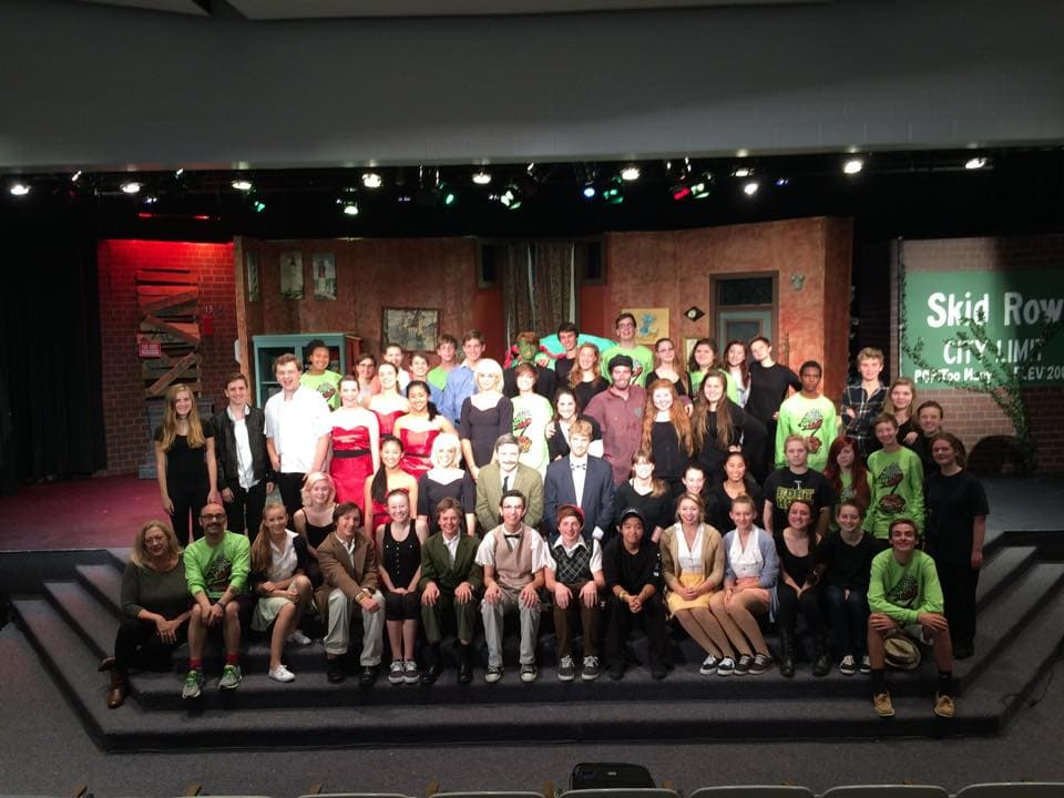 The 'Little Shop of Horrors' 'team.' Photo courtesy of West Potomac High School.