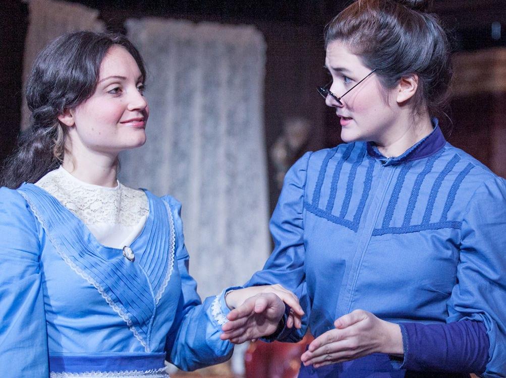 Miranda Medugno (Helen Keller) and Sarah Anne Sillers (Annie Sullivan). Photo by C. Stanley Photography.