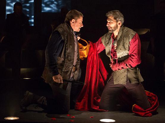 Et Tu, Brute? Anthony Cochrane (as Brutus) and Michael Sharon (Caesar). Photo by Teresa Wood.
